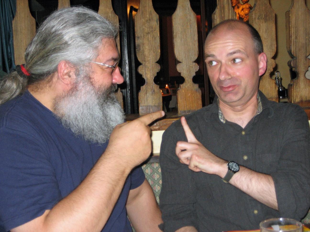 Heinrich mit Joachim Graf, Mai 2006